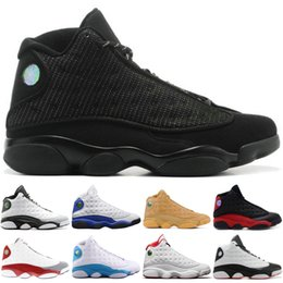 0a15e69fbff Black Cat 13 Mens High Basketball Shoes Best Quality Atmosphere Grey Wheat  Bred CP3 PE Home DMP Designer Shoes 13s Sport Sneakers