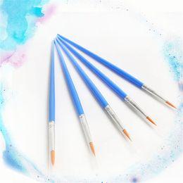 Cheap Painting Wholesale Australia - Short plastic handle nylon hair Digital Oil Painting Sketch Brush Nail Student Art Painting Brush with cheap price