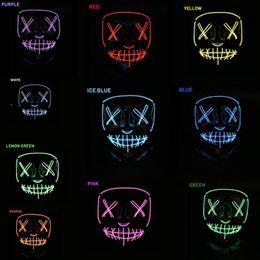 V Vendetta Cosplay UK - Halloween Mask LED Light Up Party Masks Neon Maska Cosplay Mascara Horror Mascarillas Glow In Dark Masque V for Vendetta