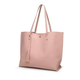 $enCountryForm.capitalKeyWord UK - New Female Messenger PU Leather Handbag Women Casual Bag Designer Big Size Tote Shoulder Bag Vintage Tassel High Quality Bag