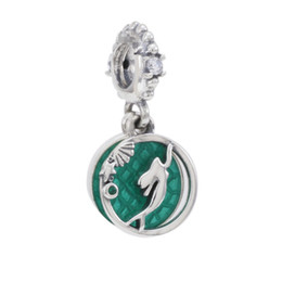 pandora christmas charms Australia - New Authentic 925 Sterling Silver Letter Ariel Mermaid Green Scale Shell Starfish Bead Pendant Fit Pandora Charm Bracelet Diy Women Jewelry