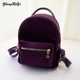 $enCountryForm.capitalKeyWord Australia - New Fashion Women Mini Velvet Backpack Designer High Quality Casual Style Travel Backpack School Bag For Teenage