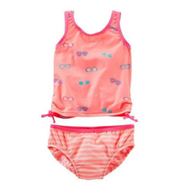Swimsuit Strap Australia - New Children's Swimsuits Girls Sunscreen Orange Eyes Split Swimsuits Women's Treasure Multi-craft Wide Shoulder Strap Children's Swimsuits