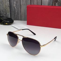 Frames Glasses For Girls Australia - Luxury 98003 designer Sunglasses For men Fashion Sun Glass Oval Frame Coating Mirror UV400 Lens Carbon Fiber Legs Summer Style Eyewear
