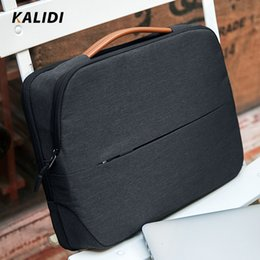 laptop 14 inch notebook Australia - KALIDI Laptop Bag 11 12 13.3 14 15.6 Inch Waterproof Notebook Bag 15 Inch For Macbook Air Pro13 15 Black Laptop Sleeve Women Men SH190924