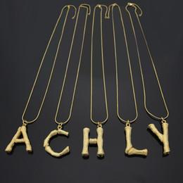 $enCountryForm.capitalKeyWord NZ - Titanium steel necklace jewelry explosion English alphabet snake bone necklace suitable for couples 18K gold necklace