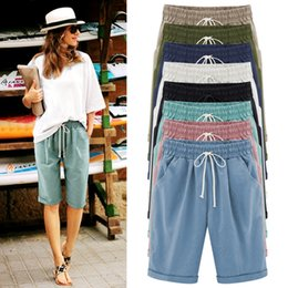 $enCountryForm.capitalKeyWord Australia - Female Summer Five Pants Thin Outer Wear Pants Large Size Women Slacks 6xl Casual Harem Pants Beach Wear