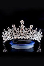 $enCountryForm.capitalKeyWord UK - Hot Luxury Bridal Crown Cheap But High Quality Sparkle Beaded Crystals Roayal Wedding Crowns Crystal Veil Headband Hair Accessories Party