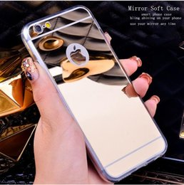 Wholesale case for iphon resale online - Luxury Mirror Cover For iphone pro max case Shock Absorption TPU Bumper Protective Shell for iphon plus case with opp bag