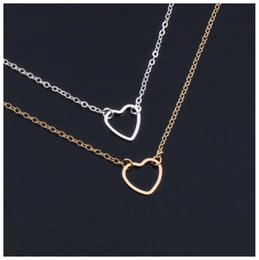Unisex Simple Bracelet Chain Australia - Simple Love Heart bracelet for Lovers Couples jewelry lovers Hollow Heart shaped pendant bracelet silver Gold color