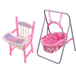 $enCountryForm.capitalKeyWord NZ - Lifelike Baby Doll ABS Swing Cradle High Chair Model Kids Pretend Toy Role Playing Nursery Room Dollhouse Decoration