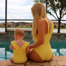BaBy girl matching outfits online shopping - mommy and daughter matching outfits Mother and Daughter swimsuit Kids Swimwear family matching Bikini mother baby daughter Swimsuit A6169