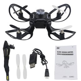 helicopter boxed Australia - Two Version RC Helicopters 2.4G Glove Sensing Drone Dron Simple Folding Small And Portable Remote Control Drones Quadcopter Toys
