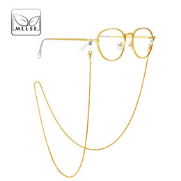 Wholesale Reading Sunglasses UK - MLLSE New Brand Fashion Eyeglasses Chains Women Men Stainless Steel Reading Glasses Chains Unisex Sunglasses Hanging