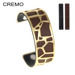 Giraffes bracelet online shopping - Cremo Giraffe Cuff Bangles Minimalist Dainty Stainless Steel Bracelet Gold Filled Exquisite Chic Interchangeable Leather Bangle