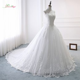 sweetheart ball gown princess wedding dresses NZ - wholesale Sexy Sweetheart Ball Gown Wedding Dresses 2018 Luxury Appliques Beaded Pearls Princess Bride Gown Vestido De Noiva