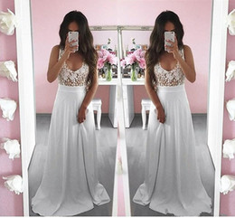 $enCountryForm.capitalKeyWord Australia - 2019 Modern White Scoop Prom Dresses A-Line Pretty Summer White Lace Long Sleeveless Prom Dress Special Occasion Dresses Evening Gowns