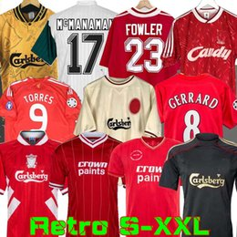 Wholesale 04 05 Retro Soccer Jersey Gerrard 1982 FOWLER DALGLISH 10 11 Football Shirts TORRES 1989 Maillot 85 86 Kuyt 08 09 SUAREZ 1995 93 McMANAMAN