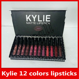 Wholesale 2018 New Makeup Kylie Matte Lipstick Set of colors set Liquid lipstick High quality Lip Gloss