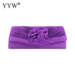 white beige cocktail dresses NZ - Femme Wedding Brial Clutch Bag Evening Hand Bag Ruched Silk Cocktail Evening Handbags Clutches Flower Gorgeous Silk Pochette
