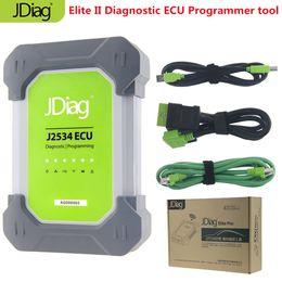 Auto Ecu Connectors Australia - Original JDiag Auto Diagnostic Tool Elite II pro JDiag Elite II Car Diagnostic&ECU Programmer tool J2534 SAE J2534-2 ECU Device