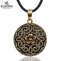 $enCountryForm.capitalKeyWord UK - wholesale 20mm Gorgeous Flower Mexican Bola Harmony Chime Ball Pregnancy Baby Pendant Necklace for Women Vintage Jewelry N14NB322