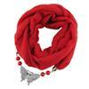 $enCountryForm.capitalKeyWord Australia - New design style hijab scarf solid color small fresh butterfly with beads pendant ladies scarf jewelry necklace scarf free shipping
