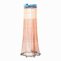 2.4 - 4.8m Small Mesh Hand Throw Catch Fishing Net on Sale
