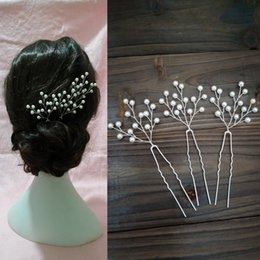 $enCountryForm.capitalKeyWord Australia - Bridal Baby Breath Pearl Hair Pins Wedding Pearl Floral Headpiece Bridal Jewelry Bridesmaid Wedding Accessories Flower Hair Comb