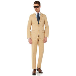 $enCountryForm.capitalKeyWord Australia - Custom Made New Style Mens 2 Button 2 Piece Modern Fit Cotton Suit Weding Tuxedos 2 Piece Groom Suits (Jacket+Pants) L629