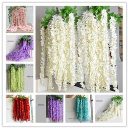 $enCountryForm.capitalKeyWord NZ - 64 inch Long Elegant Artificial Silk Flower Wisteria Vine Rattan For Wedding Centerpieces Decorations Bouquet Garland Home Ornament.
