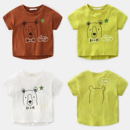 2c62cc898 Summer Korean Childrens Clothing Boy Printing Cartoon Cotton Round Neck  Short-sleeved T-shirt Baby Shirt From China Supplier