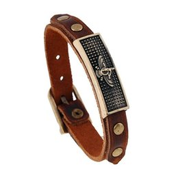 $enCountryForm.capitalKeyWord UK - New Pattern Restore Ancient Ways Alloy Cowhide Can Adjust European Genuine Leather Man Cruel Bracelet Bracelets