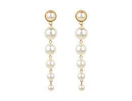 Wholesale Korean style simple earrings environment friendly pearl earrings for women and girls professional tailor made gift