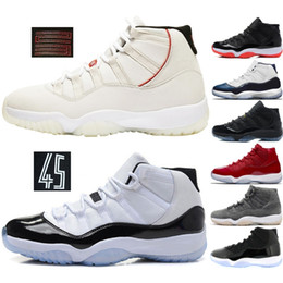 17955f1d24906 Concord 11s Zapatillas de baloncesto para hombre Platinum Tint Alta  victoria Like 82 Gym Red Win Like 96 XI 11 Calzado de diseñador Snerkers  deportivos para ...