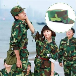 Wholesale military sweats online – oversize Student Military Training Cap Outdoor Jungle Camouflage Hat Cotton Material Sweat Absorption Camping Light Weight Hot Sales dc C1