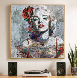 marilyn monroe canvas prints NZ - SELFLESSLY Street Art Painting Marilyn Monroe Canvas Art Prints and Posters for Living Room Abstract Modern Decorative Paintings