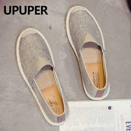 $enCountryForm.capitalKeyWord Australia - UPUPER Summer Men Canvas Shoes Breathable Men Casual Shoes For Man Slip-On Cheap Footwear Flats 2019