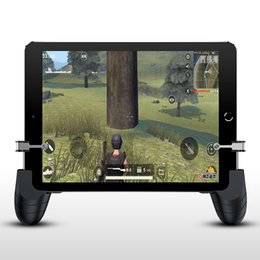 Discount ipad controllers - for PUBG Mobie for Ipad Tablet Gamepad Trigger Fire-Button Aim Key Smart Phone Mobile Games L1R1 Shooter Controller Joys