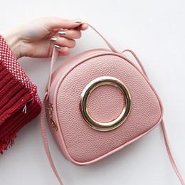 $enCountryForm.capitalKeyWord Australia - Women PU Leather Handbags 2019 Fashion Ring Decoration Female Small Mini Cool Shoulder Crossbody Hand Bag for Little Girls Kids