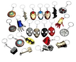game keys wholesale Australia - Car Styling Super Heroes Captain America Superman Spiderman Batman Iron Man Game of Thrones Keychain Key rings Fashion Jewelry Christmas Gif
