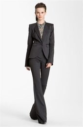 One Piece Pant Suits Women UK - Women Trouser Suit Formal Ladies Elegant Pant Suit Slim Fit Female Office Uniform 2 Piece Suits One Button Custom Made