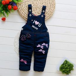 $enCountryForm.capitalKeyWord Australia - good quality 2019 Winter Thick Cartoon Baby Bib Pants Toddler Girl Denim Overalls Infant Clothing Warm Baby Trousers