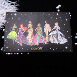 Stok Colourpop Koleksiyonu göz farı COLOURPOP X Prenses 15 renk göz farı Işıltılı Mat far paleti DHL ücretsiz gemi