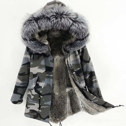 $enCountryForm.capitalKeyWord NZ - 2019 winter New Outerwear long Parka Winter Jacket Women Real Fur Coat Natural Raccoon Fur Hood Real Rabbit Fur Liner Y190912