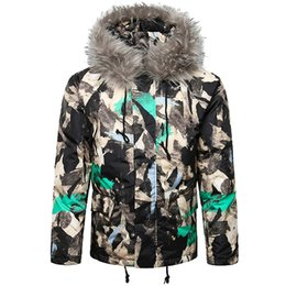 e3607e3cde5 Mens windbreaker jacket Autumn Winter Camouflage Print Pullover Long Sleeve  Hooded Tops Blouse coat men down duck  G8