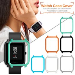 Cover For Smart Watch Australia - Watch Frame Amazfit Bip Youth Smart Watch Protector Case Slim Colorful Frame PC Case Cover Protect Shell For Xiaomi Huami