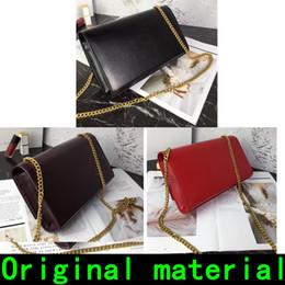 Tassel chain handbag online shopping - Designer Handbags Saint cowhide leather Original material Gold chain Silver chain high quality Luxury handbags Shoulder Bags