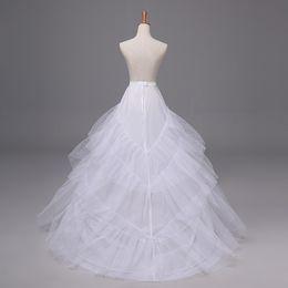 $enCountryForm.capitalKeyWord Australia - White Long Train Bridal Dress Petticoats High Quality Women Wedding Underskirt Elegant Ball Gown Crinoline Mariage