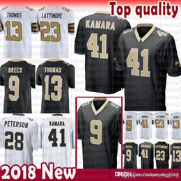 476b1e4b5 black color football jersey 2019 - New Orleans Saints 9 Drew Brees 41 Alvin  Kamara Jersey
